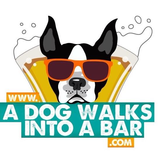 A dog walks into a bar logo